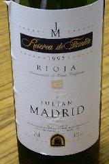 Rioja Reserva de Familia 1997 / Julian Madrid